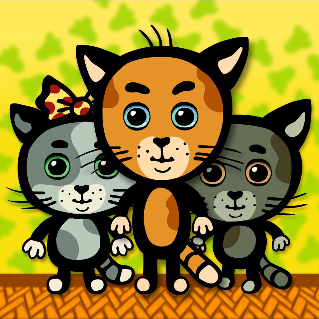 Три котенка. Интерактивные мультфильмы и развивающие игры для детей